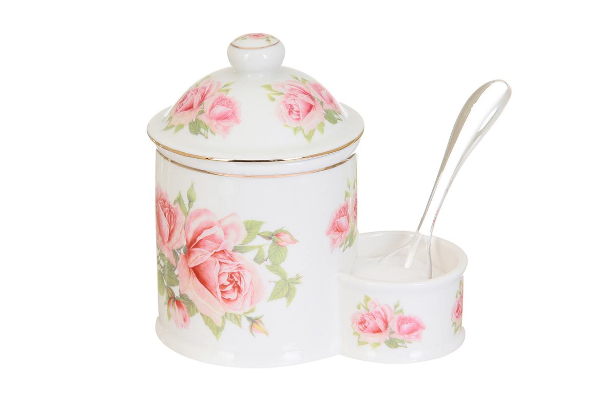 Банка для соли Elan Gallery Розовая фантазия, с ложкой, 350 мл115510Банка для соли Elan Gallery Розовая фантазия, изготовленная из высококачественной керамики, подойдет не только для соли, но и для сахара, специй и даже меда. Изделие имеет изысканный внешний вид. В комплект входит пластиковая ложечка. Такая банка для соли стильно оформит интерьер кухни. Не рекомендуется использовать абразивные моющие средства. Не использовать в микроволновой печи.Размер банки: 13 х 8,5 х 13,5см.