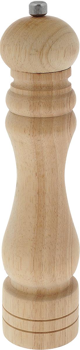 Мельница для перца Metaltex, высота 26 см58.60.26Мельница для перца Metaltex изготовлена из дерева и стали. Жернова в основании перцемолки изготовлены из керамики. Мельница легка в использовании, стоит только покрутить верхнюю часть мельницы, и вы с легкостью сможете поперчить по своему вкусу любое блюдо.Высота: 26 см.Диаметр основания емкости: 5,5 см.