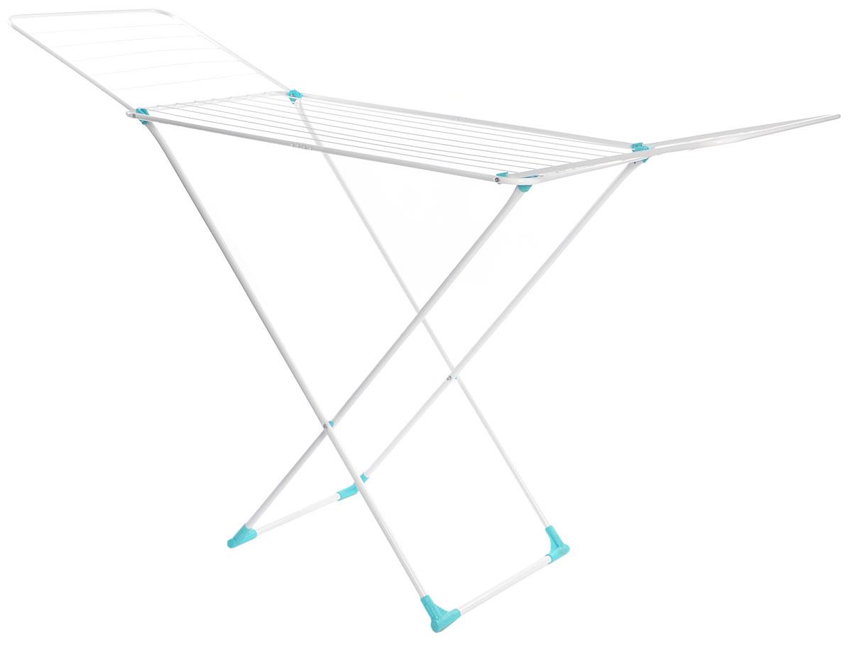 Сушилка для белья Nika, напольная, цвет: белый, 180 х 108 х 54 смСБ1бНапольная сушилка для белья Nika проста и удобна в использовании, компактно складывается, экономя место в вашей квартире. Сушилку можно использовать на балконе или дома. Сушилка оснащена складными створками для сушки одежды во всю длину, а также имеет специальные пластиковые крепления в основе стоек, которые не царапают пол. Размер сушилки в разложенном виде: 180 х 108 х 54 см.Размер сушилки в сложенном виде: 130 х 54 х 2,5 см.Длина сушильного полотна: 18 м.