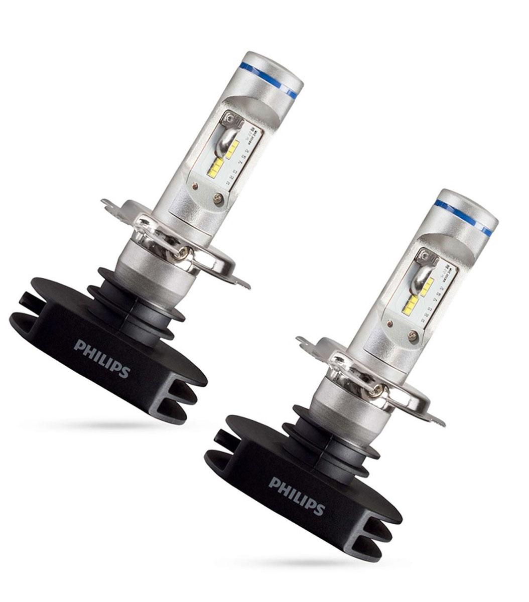 Лампа автомобильная светодиодная Philips X-tremeVision LED, цоколь H4, 2 шт12953BWДо +150% больше света по сравнению со стандартными галогеновыми лампами H4. Максимальный комфорт для глаз подарят увернность за рулем. С новыми светодиодными лампами для головного освещения Philips LED вождение в ночное время суток станет удовольствием без эффекта ослепления встречных водителей. Фары головного света Philips LEDs с температурой в 6200K дают насыщенный белый свет, которые идеально подходят по цветовой температуре с светодиодными противотуманными и габаритными фонарями, для создания уникального освещения