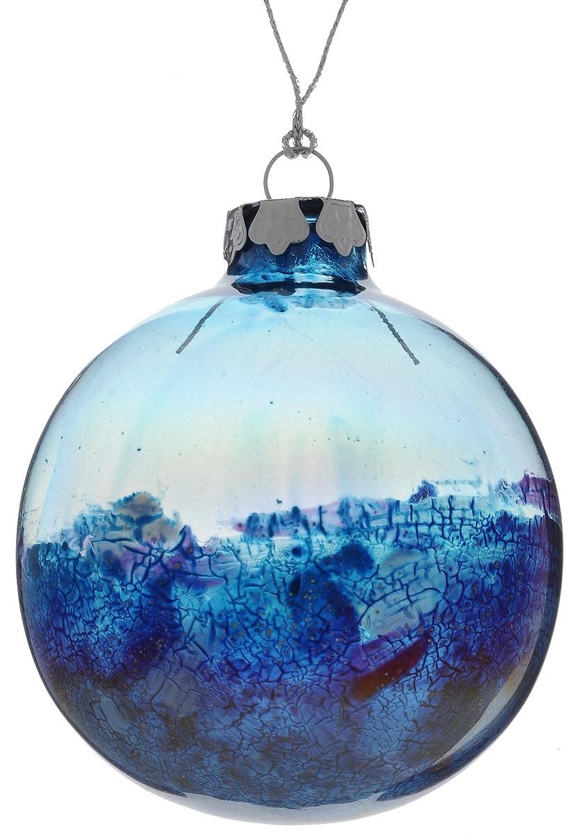 Украшение новогоднее подвесное Winter Wings Шар, диаметр 8 см. N079104NLED-454-9W-BKУкрашение Winter Wings Шар прекрасно подойдет для праздничного декора новогодней ели. Изделие выполнено из высококачественного стекла. Для удобного размещения на елке предусмотрена текстильная петелька.Елочная игрушка - символ Нового года. Она несет в себе волшебство и красоту праздника. Создайте в своем доме атмосферу веселья и радости, украшая новогоднюю елку нарядными игрушками, которые будут из года в год накапливать теплоту воспоминаний.