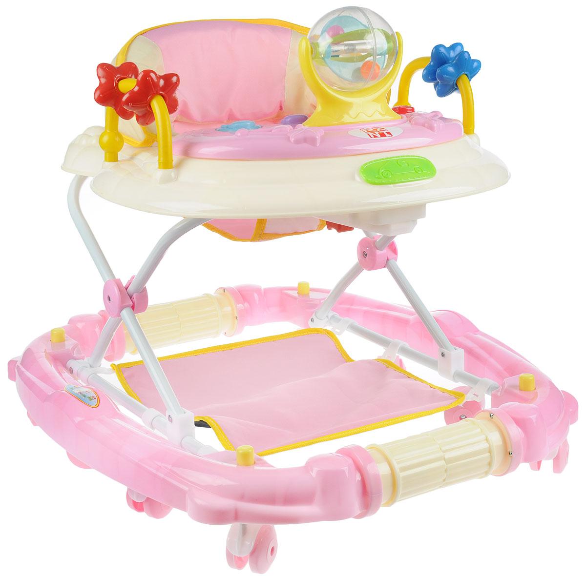 Rant Ходунки-качалка W-26 цвет розовый -  Ходунки, прыгунки, качалки