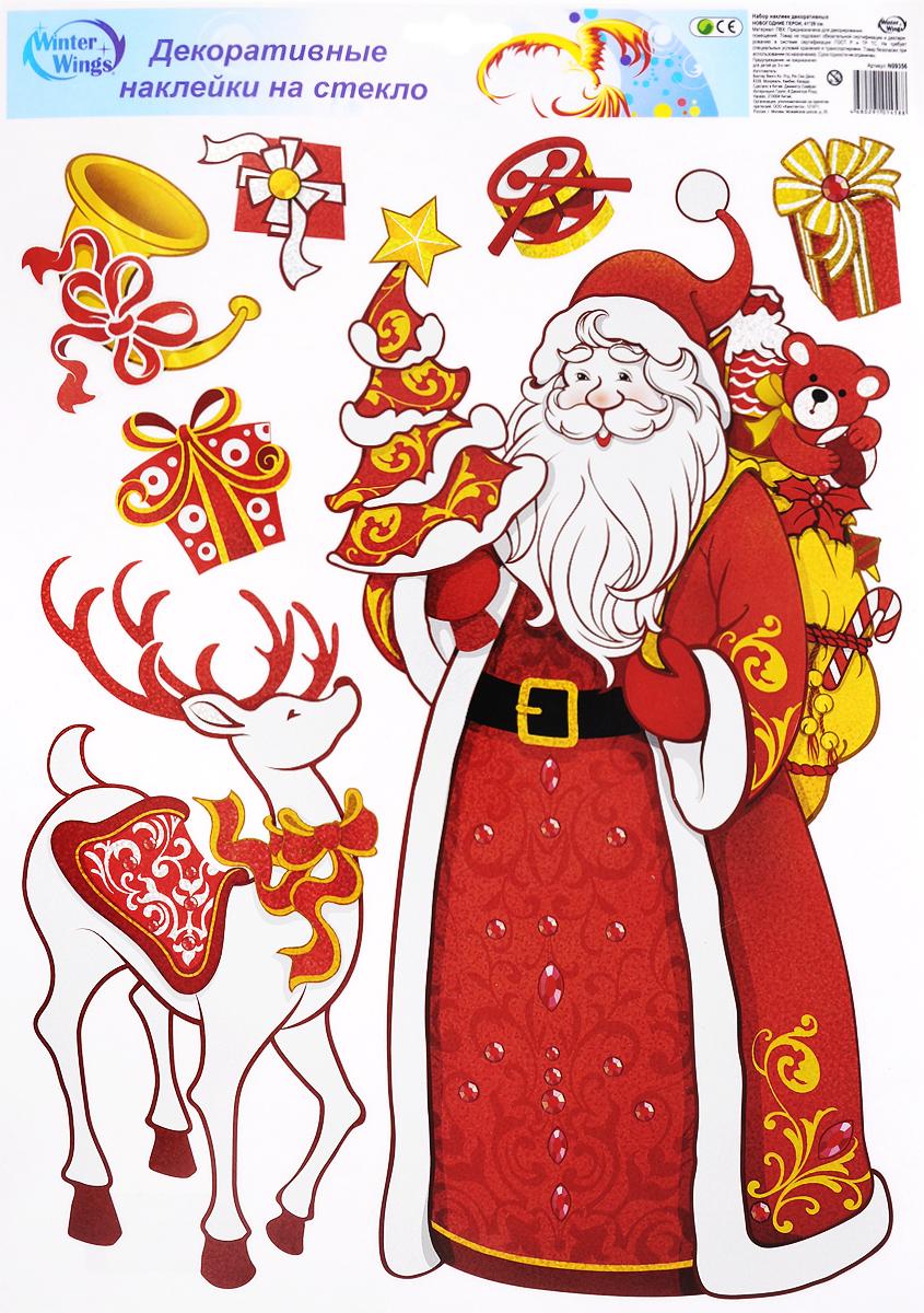 Украшение новогоднее оконное Winter Wings Новогодние герои, 7 шт. N09356_олень7532 (30)_слоновая костьНовогоднее оконное украшение Winter Wings Новогодние герои поможет украсить дом к предстоящим праздникам. Наклейки изготовлены из ПВХ.С помощью этих украшений вы сможете оживить интерьер по своему вкусу, наклеить их на окно, на зеркало или на дверь.Новогодние украшения всегда несут в себе волшебство и красоту праздника. Создайте в своем доме атмосферу тепла, веселья и радости, украшая его всей семьей. Размер листа: 41 х 29 см. Количество наклеек на листе: 7 шт. Размер самой большой наклейки: 35 х 18 см.Размер самой маленькой наклейки: 4 х 5 см.
