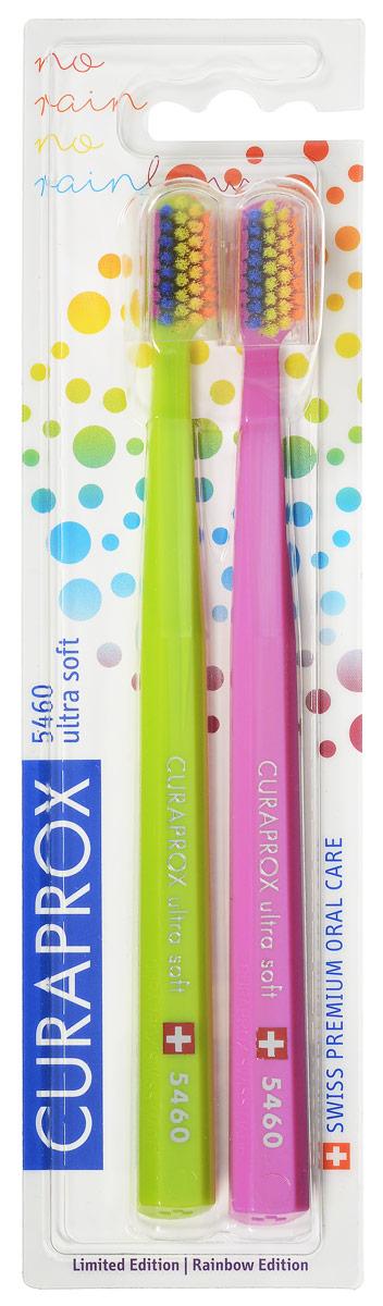 CS 5460 Duo Rainbow Edition Набор зубных щеток ultrasoft, d 0,10 мм (2 шт.)цвет: салатовый,розовыйCS5460_салатовый-розовый