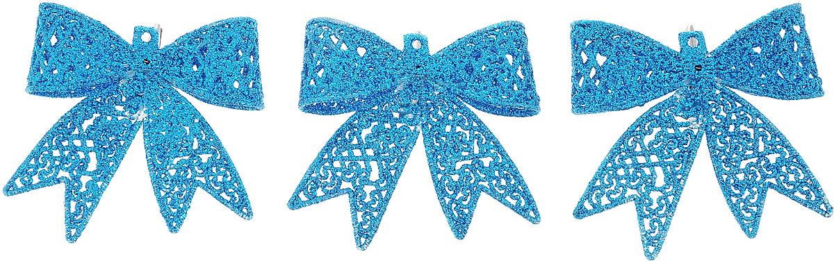 Набор новогодних подвесных украшений Winter Wings Бантики, цвет: синий, 3 штC0038550Набор Winter Wings Бантики состоит из 3 подвесных украшений, выполненных из пластика. Оригинальные новогодние украшения прекрасно подойдут для праздничного декора дома и новогодней ели. С помощью специального отверстия или застежки-крокодильчика их можно повесить в любом понравившемся вам месте. Но, конечно, удачнее всего такие игрушки будут смотреться на праздничной елке. Елочная игрушка - символ Нового года и Рождества. Она несет в себе волшебство и красоту праздника. Создайте в своем доме атмосферу веселья и радости, украшая новогоднюю елку нарядными игрушками, которые будут из года в год накапливать теплоту воспоминаний.