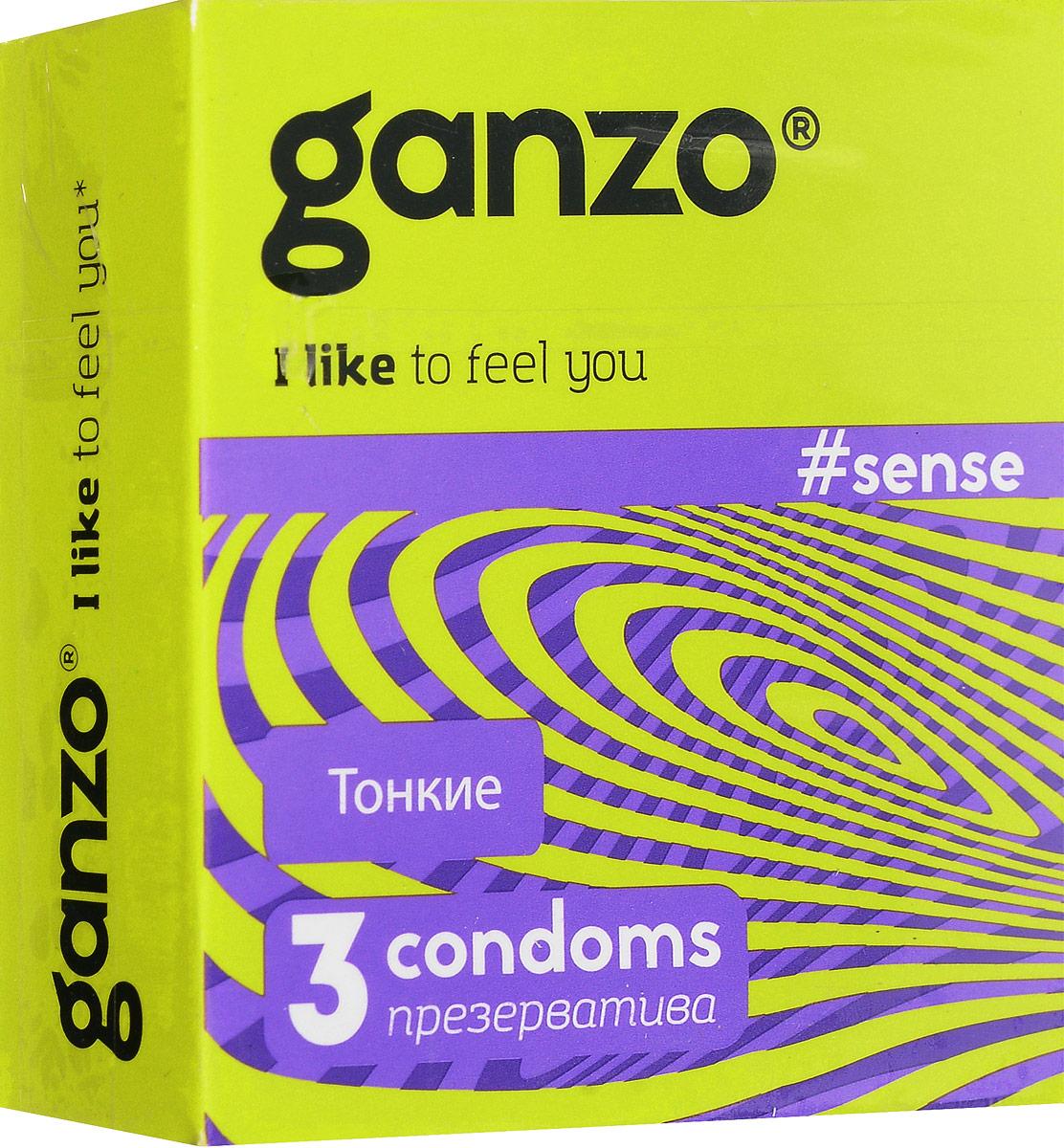 Ganzo Презервативы Sense, No3, 3 шт11009/3