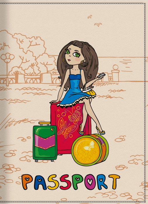 Обложка для паспорта женская КвикДекор Отпуск, цвет: слоновая кость. DC-15-0001-292505Оригинальная, яркая и качественная обложка для паспорта КвикДекор Отпуск изготовлена из качественной экокожи. Подходит для всех видов паспортов, как общегражданских, так и заграничных. Изображение устойчиво к стиранию. Изделие раскладывается пополам.Яркий современный дизайн, который является основной фишкой данной модели, будет радовать глаз.