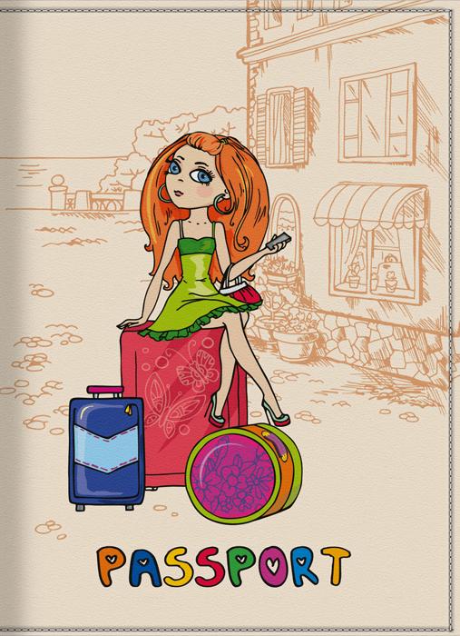 Обложка для паспорта женская КвикДекор Отпуск, цвет: слоновая кость. DC-15-0001-393264Оригинальная, яркая и качественная обложка для паспорта КвикДекор Отпуск изготовлена из качественной экокожи. Подходит для всех видов паспортов, как общегражданских, так и заграничных. Изображение устойчиво к стиранию. Изделие раскладывается пополам.Яркий современный дизайн, который является основной фишкой данной модели, будет радовать глаз.