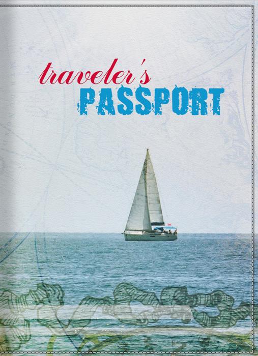 Обложка для паспорта КвикДекор  Морские путешествия , цвет: голубой. DC-15-0038-1 - Обложки для паспорта