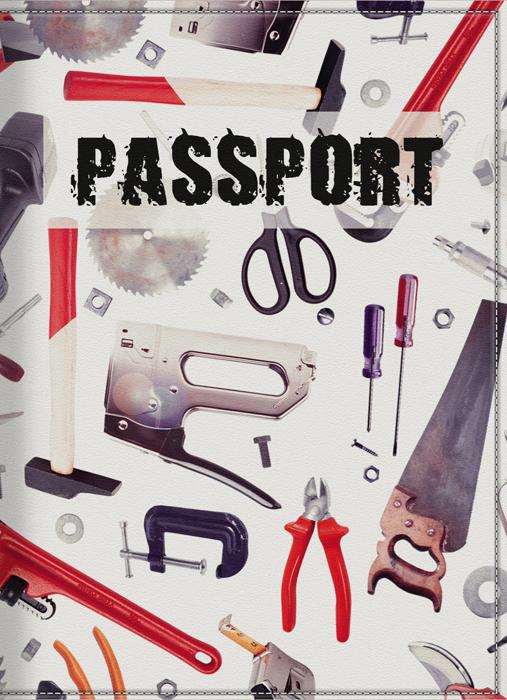 Обложка для паспорта мужская КвикДекор Инструменты, цвет: слоновая кость. DC-15-0039-1GL-224Оригинальная, яркая и качественная обложка для паспорта КвикДекор Инструменты изготовлена из качественной экокожи. Подходит для всех видов паспортов, как общегражданских, так и заграничных. Изображение устойчиво к стиранию. Изделие раскладывается пополам.Яркий современный дизайн, который является основной фишкой данной модели, будет радовать глаз.