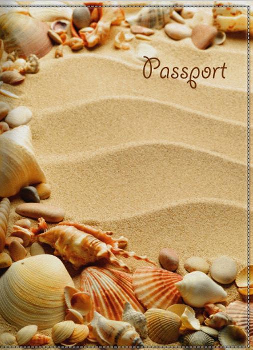 Обложка для паспорта женская КвикДекор Песок и ракушки, цвет: бежевый. DC-15-0055-1AY9073Оригинальная, яркая и качественная обложка для паспорта КвикДекор Песок и ракушки изготовлена из качественной экокожи. Подходит для всех видов паспортов, как общегражданских, так и заграничных. Изображение устойчиво к стиранию. Изделие раскладывается пополам.Яркий современный дизайн, который является основной фишкой данной модели, будет радовать глаз.