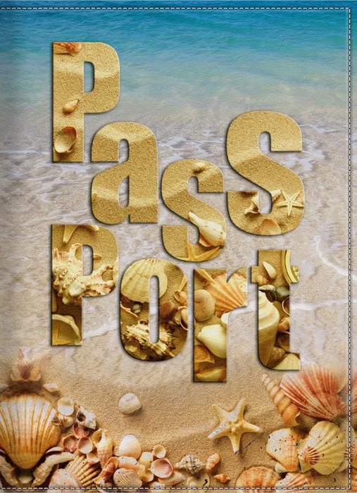 Обложка для паспорта женская КвикДекор Море и песок, цвет: бежевый. DC-15-0060-1A52_108Оригинальная, яркая и качественная обложка для паспорта КвикДекор Море и песок изготовлена из качественной экокожи. Подходит для всех видов паспортов, как общегражданских, так и заграничных. Изображение устойчиво к стиранию. Изделие раскладывается пополам.Яркий современный дизайн, который является основной фишкой данной модели, будет радовать глаз.