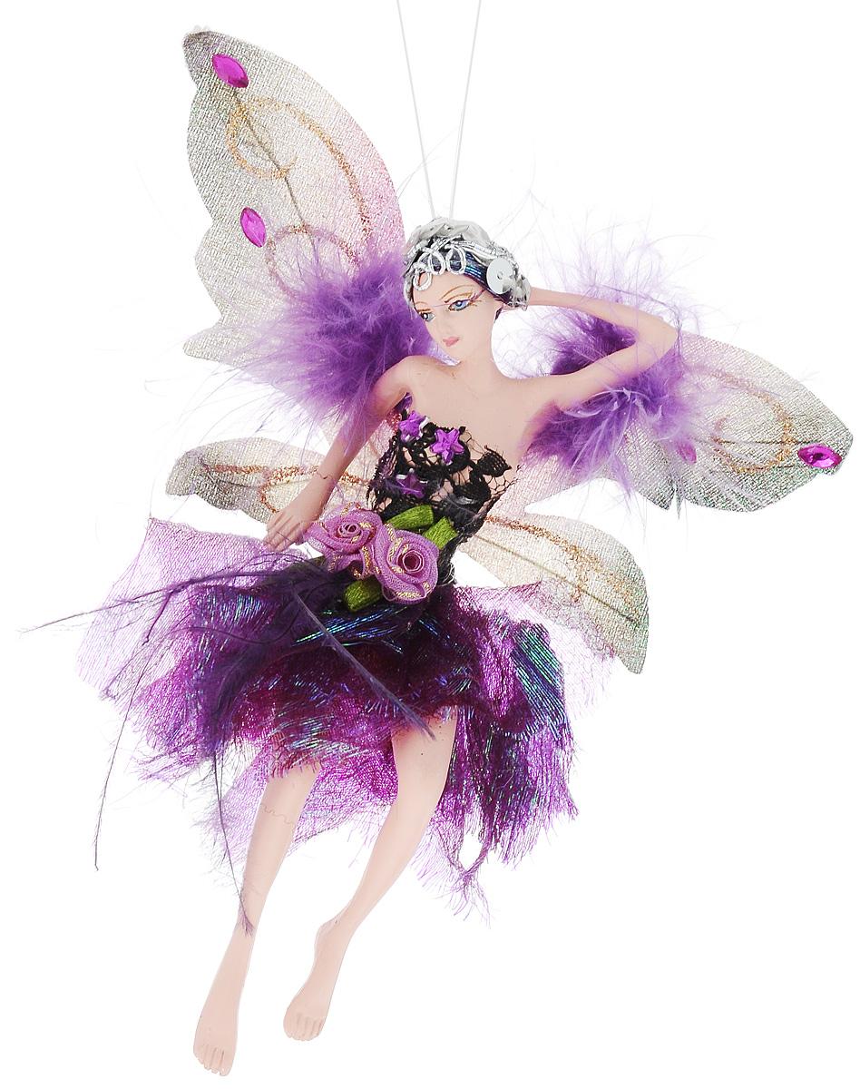 Украшение декоративное подвесное Winter Wings Фея, высота 15 см. N181725N07512Новогоднее подвесное украшение Winter Wings Фея выполнено из полирезина в виде очаровательной феи с крыльями. Изделие оформлено перьями, стразами и блестками. С помощью специальной петельки украшение можно повесить в любом понравившемся вам месте. Но, конечно, удачнее всего оно будет смотреться на праздничной елке.Елочная игрушка - символ Нового года. Она несет в себе волшебство и красоту праздника. Создайте в своем доме атмосферу веселья и радости, украшая новогоднюю елку нарядными игрушками, которые будут из года в год накапливать теплоту воспоминаний.Размер: 15 х 5 см.Высота: 15 см.