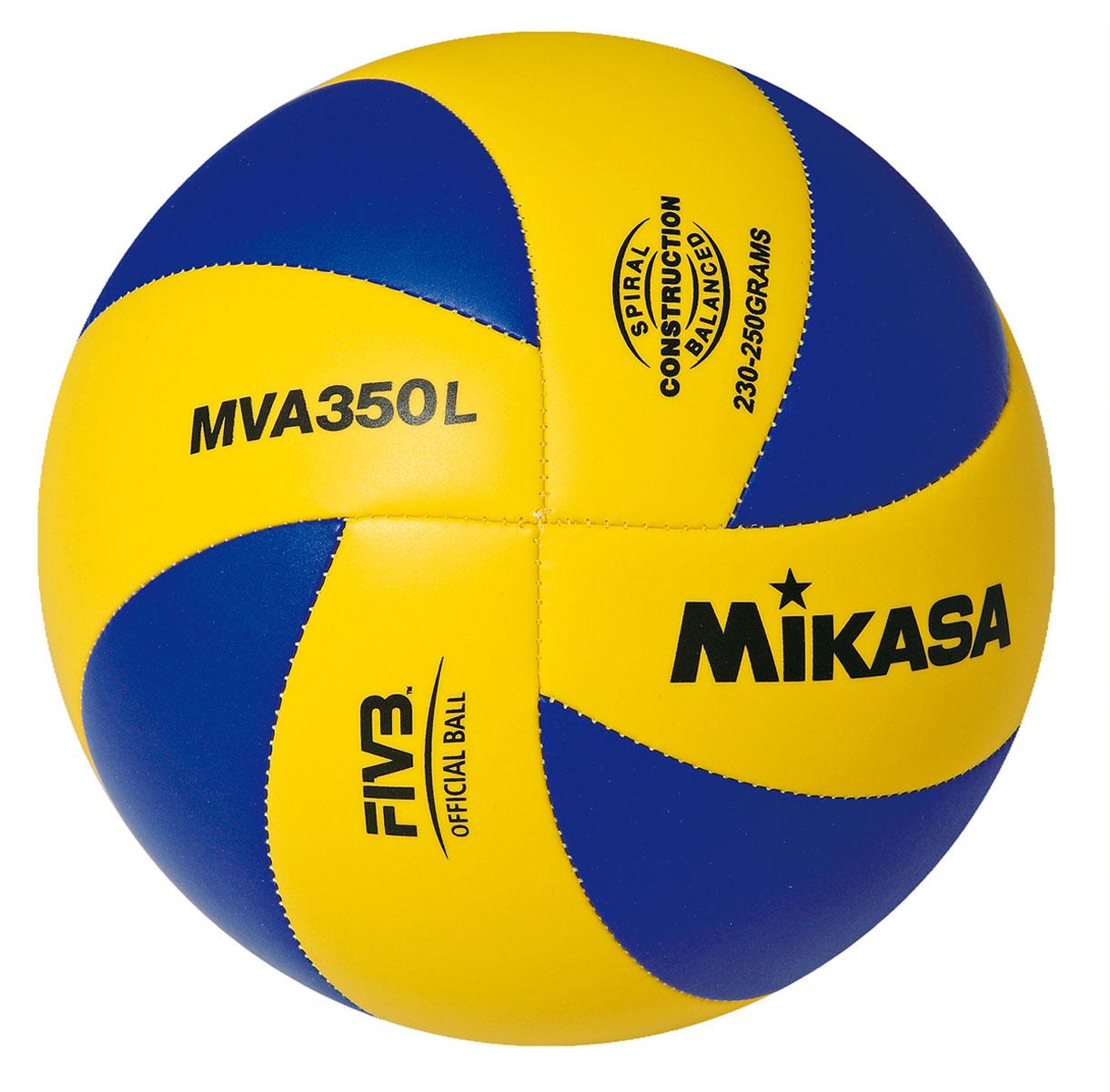 Мяч волейбольный Mikasa MVA 350 L. Размер 5120330_yellow/blackОптимальный подходит для поставок на тендеры. MVA 350 L это восьми панельный аналог мяча MGV 260 . Логотип FIVB Official - официальный стандарт FIVB для волейбольных мячей.