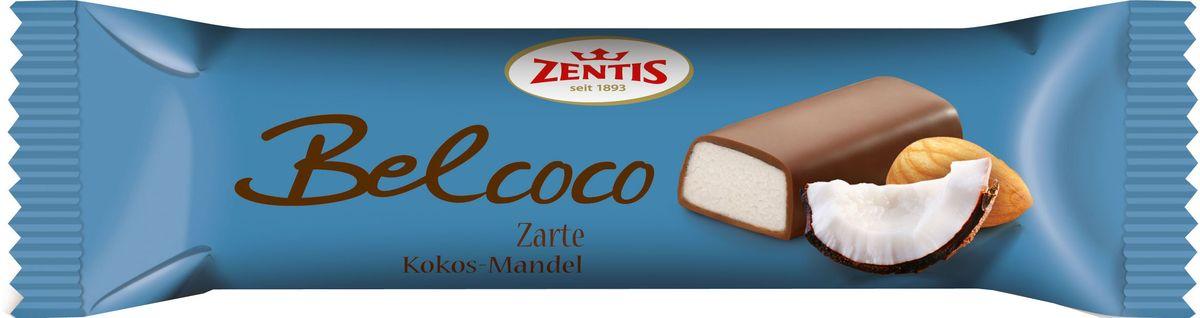 Zentis Belcoco марципановый батончик, 60 г5060295130016Откройте для себя мир сладких удовольствий с Zentis. Наслаждайтесь прекрасными марципанами из отборного миндаля. Zentis предлагает широкий выбор вкусных вариаций на любой вкус и любой случай.