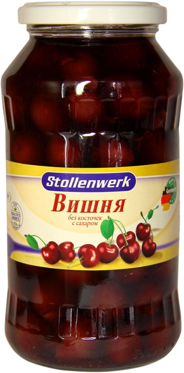 Stollenwerk вишня кислая без косточек с сахаром, 720 мл