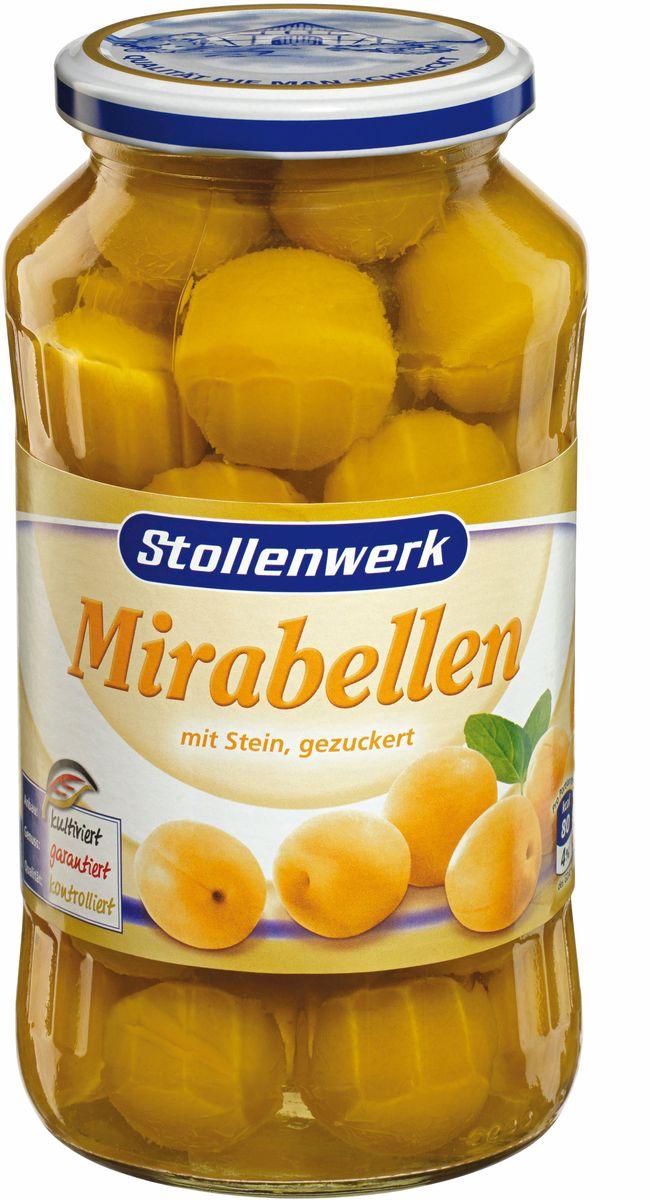 Stollenwerk желтая слива Мирабель с косточкой с сахаром, 720 мл