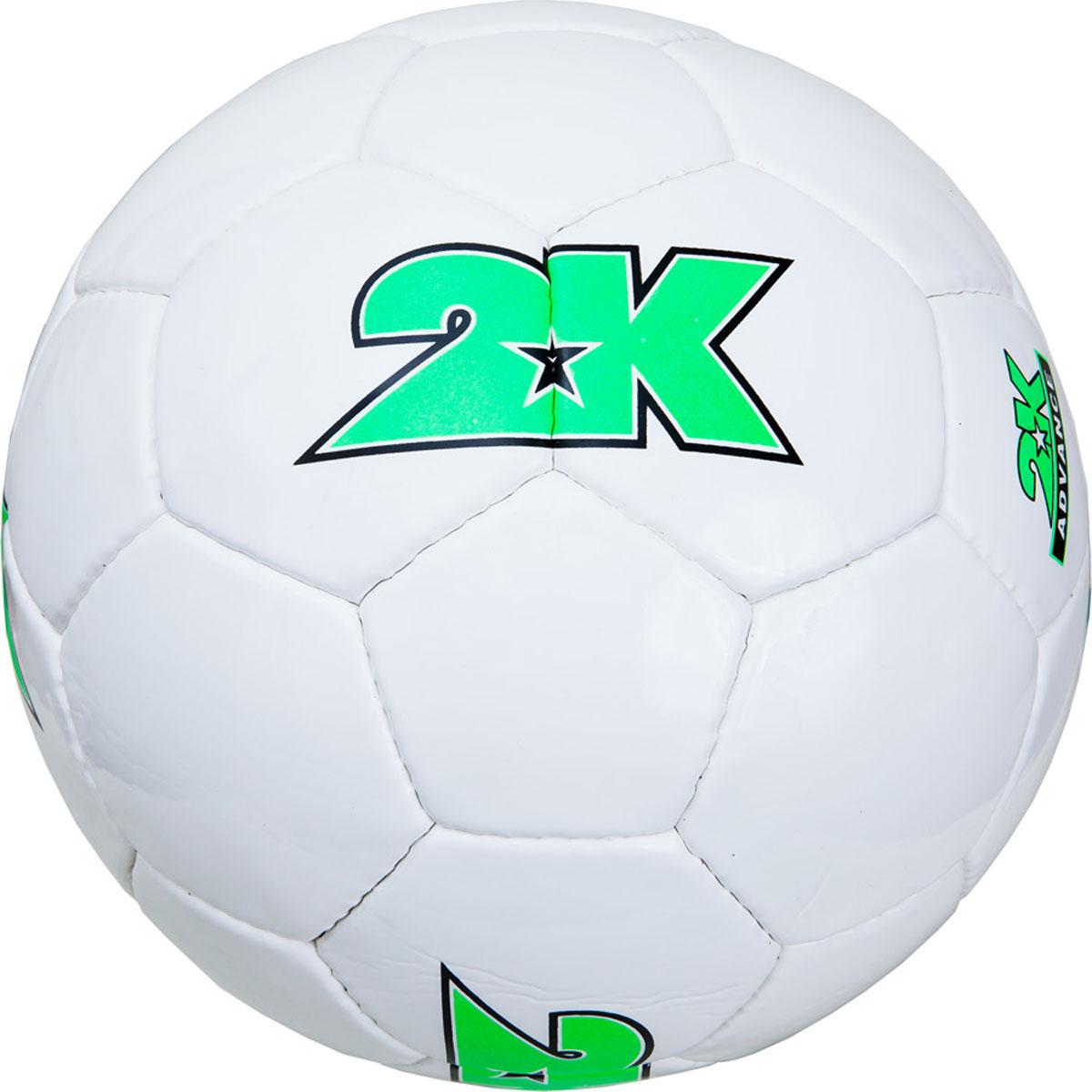 Мяч футбольный 2K Sport Advance, цвет: белый, зеленый. Размер 5127048Любительский футбольный мяч 2K Sport Advance изготовлен из полиуретана. Бесшовная камера выполнена из натурального латекса. Сшивка производилась вручную. Швы проклеены для герметизации.
