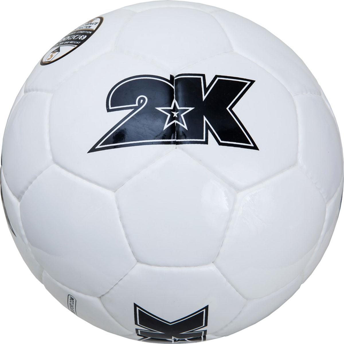 Мяч футбольный 2K Sport Merkury, цвет: белый, черный. Размер 5127062Любительский футбольный мяч 2K Sport Merkury изготовлен из полиуретана, полиэстера и хлопка. Сшивка производилась вручную. Швы проклеены для герметизации.