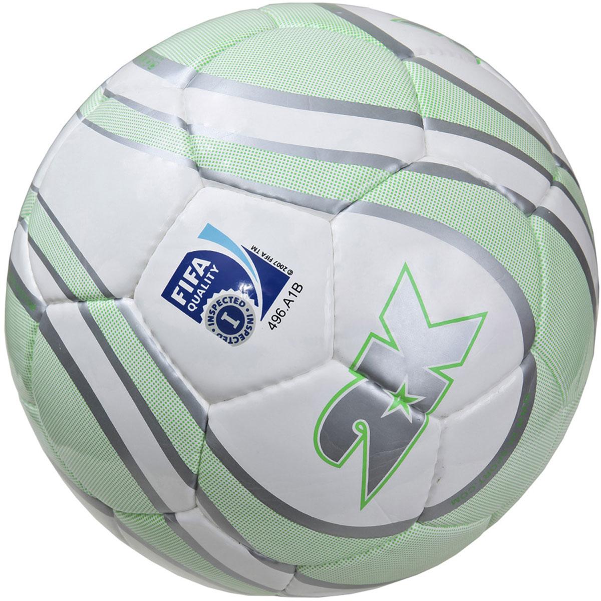 Мяч футбольный 2K Sport Parity, цвет: белый, серый, зеленый. Размер 5SCH01-PurpleПрофессиональный мяч 2K Sport Parity выполнен из ЭВА и полиуретана. Четырехслойная текстильная подложка. Мяч имеет бесшовную бутиловую камеру с бутиловым ниппелем. Ручная сшивка панелей.Сертификат FIFA Inspected.