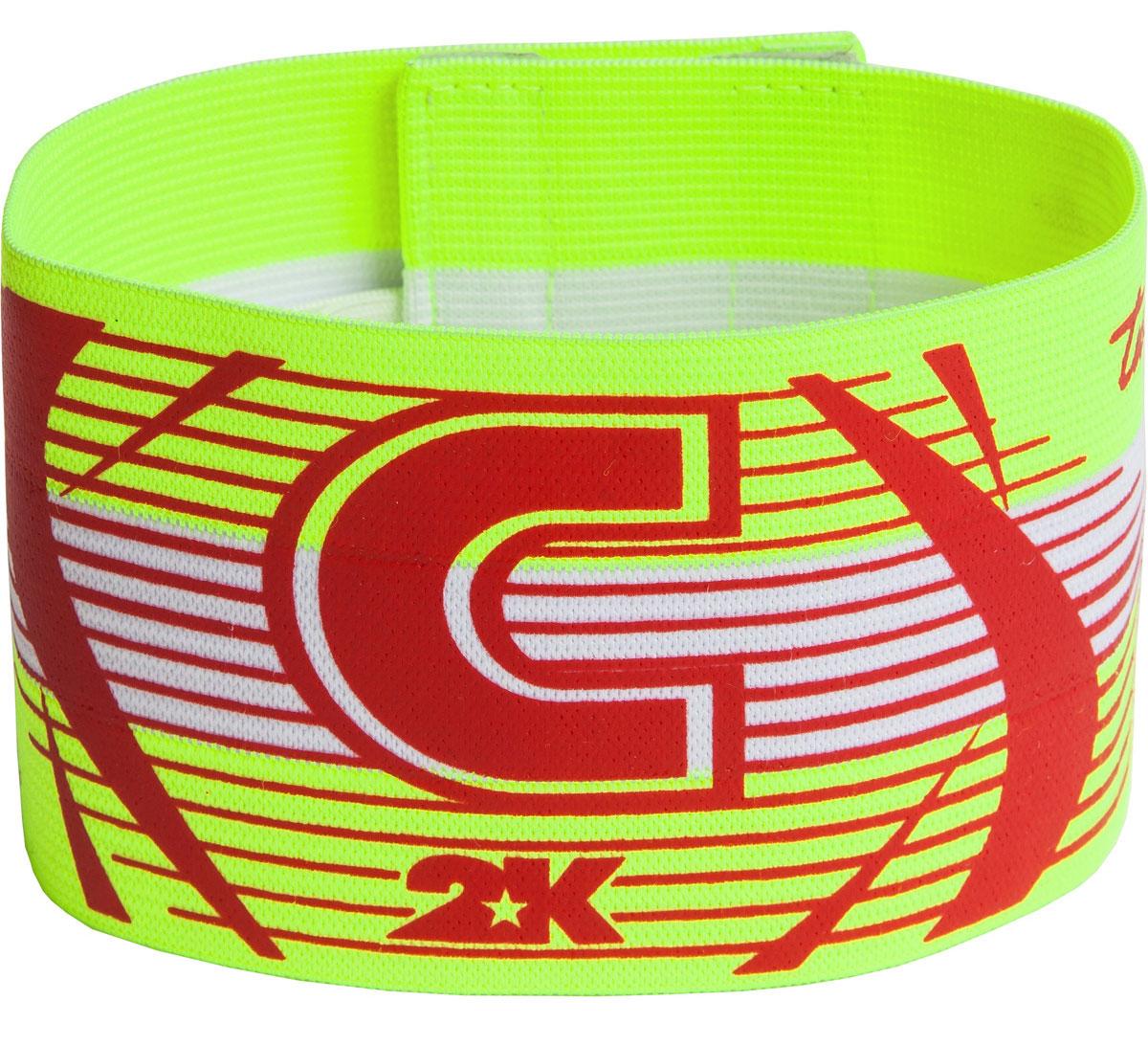 Повязка капитанская 2K Sport Captain, цвет: светло-зеленый, красныйконусЯркая повязка на руку 2K Sport Captain применяется для того, чтобы выделить на поле капитана команды. Выполнено изделие из высококачественного полиэстера. Размер универсальный.