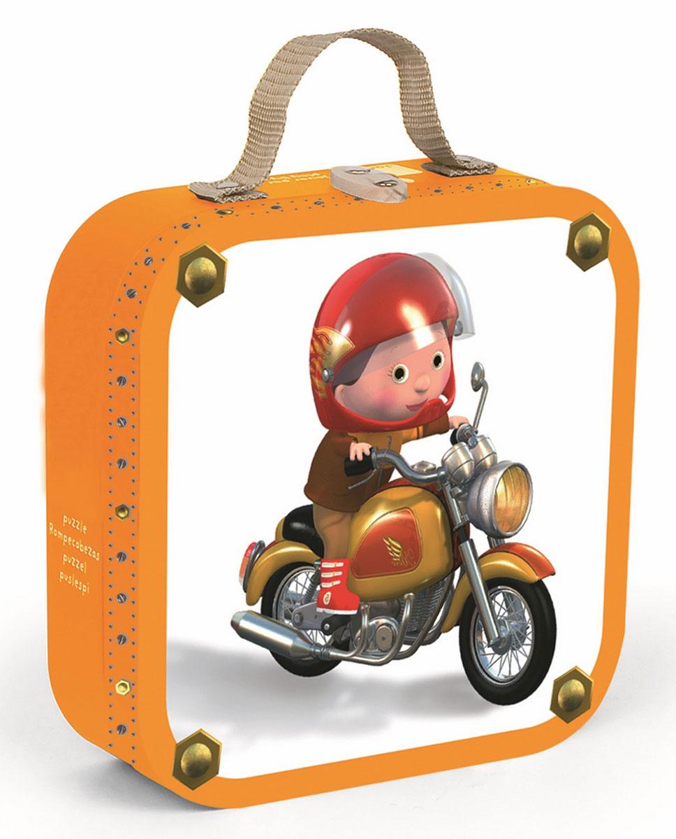 Janod Набор пазлов для малышей Мотогонщик на 6, 9, 12 и 16 деталей janod пазл я мама 4 в 1