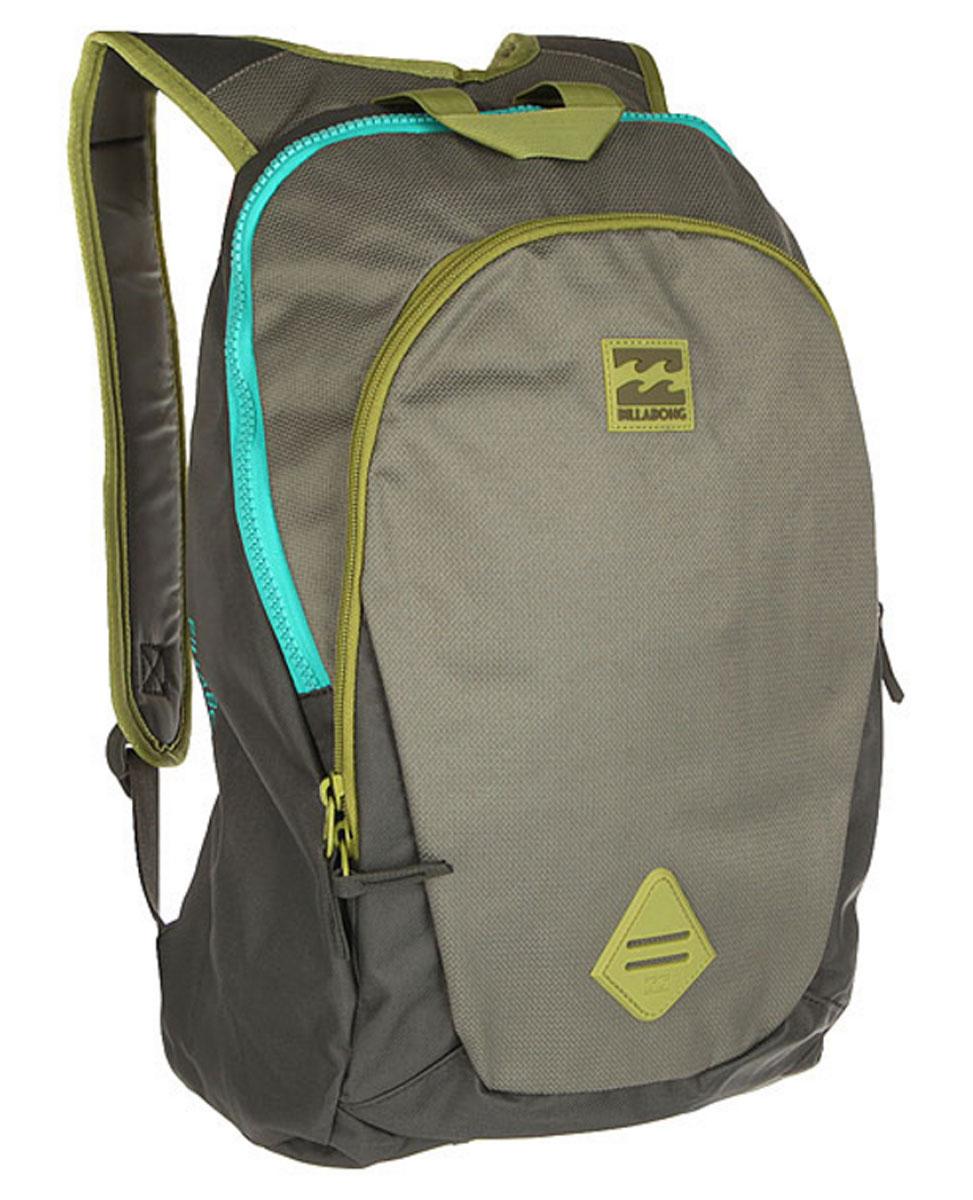 Рюкзак городской мужской Billabong Trace Pack, цвет: оливковый, 20 л. Z5BP02MABLSEH10001Минималистичный рюкзак с отделением под ноутбук и большим основным отделением.