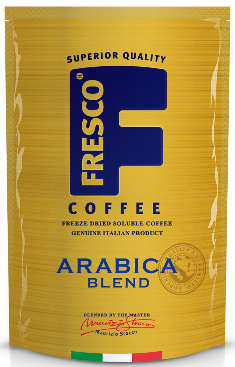 Fresco Arabica Blend кофе растворимый, 75 г137102Fresco Arabica Blend – авторский купаж из трех особых сортов арабики: Катурра, Катуаи и Типика, выращенных в Колумбии. Он обладает тонко сбалансированным вкусом с нотками цитрусовых. Насыщенный сложный вкус. Напиток для утра и целого дня.