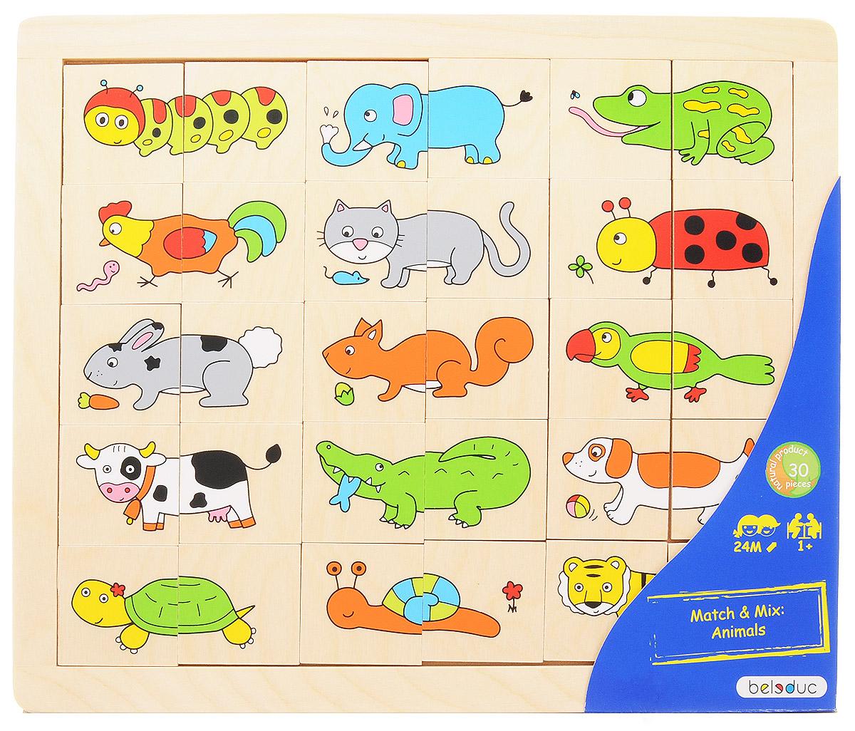 Beleduc Пазл для малышей Животные игрушки тимбергрупп пазл для малышей цвета