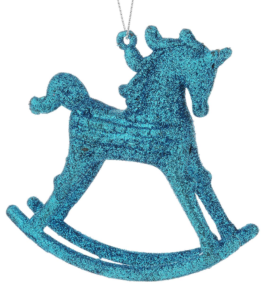 Украшение новогоднее подвесное Winter Wings Лошадка, высота 10 смN09163_бирюзовыйНовогоднее подвесное украшение Winter Wings Лошадка выполнено из пластика и украшено блестками. С помощью специальной петельки украшение можно повесить в любом понравившемся вам месте. Но, конечно, удачнее всего оно будет смотреться на праздничной елке.Елочная игрушка - символ Нового года. Она несет в себе волшебство и красоту праздника. Создайте в своем доме атмосферу веселья и радости, украшая новогоднюю елку нарядными игрушками, которые будут из года в год накапливать теплоту воспоминаний. Откройте для себя удивительный мир сказок и грез. Почувствуйте волшебные минуты ожидания праздника, создайте новогоднее настроение вашим дорогим и близким. Размер украшения: 10,5 х 2,4 х 10 см.