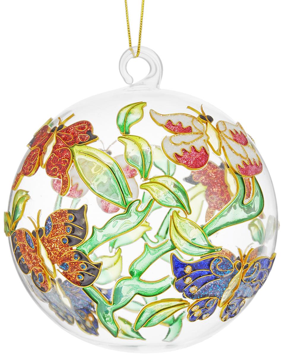 Украшение новогоднее подвесное Winter Wings Бабочка, диаметр 7,5 смN07642Новогоднее подвесное украшение Winter Wings Бабочка выполнено из стекла и эмали. С помощью специальной петельки украшение можно повесить в любом понравившемся вам месте. Но, конечно, удачнее всего оно будет смотреться на праздничной елке.Елочная игрушка - символ Нового года. Она несет в себе волшебство и красоту праздника. Создайте в своем доме атмосферу веселья и радости, украшая новогоднюю елку нарядными игрушками, которые будут из года в год накапливать теплоту воспоминаний. Откройте для себя удивительный мир сказок и грез. Почувствуйте волшебные минуты ожидания праздника, создайте новогоднее настроение вашим дорогим и близким. Диаметр украшения: 7,5 см.