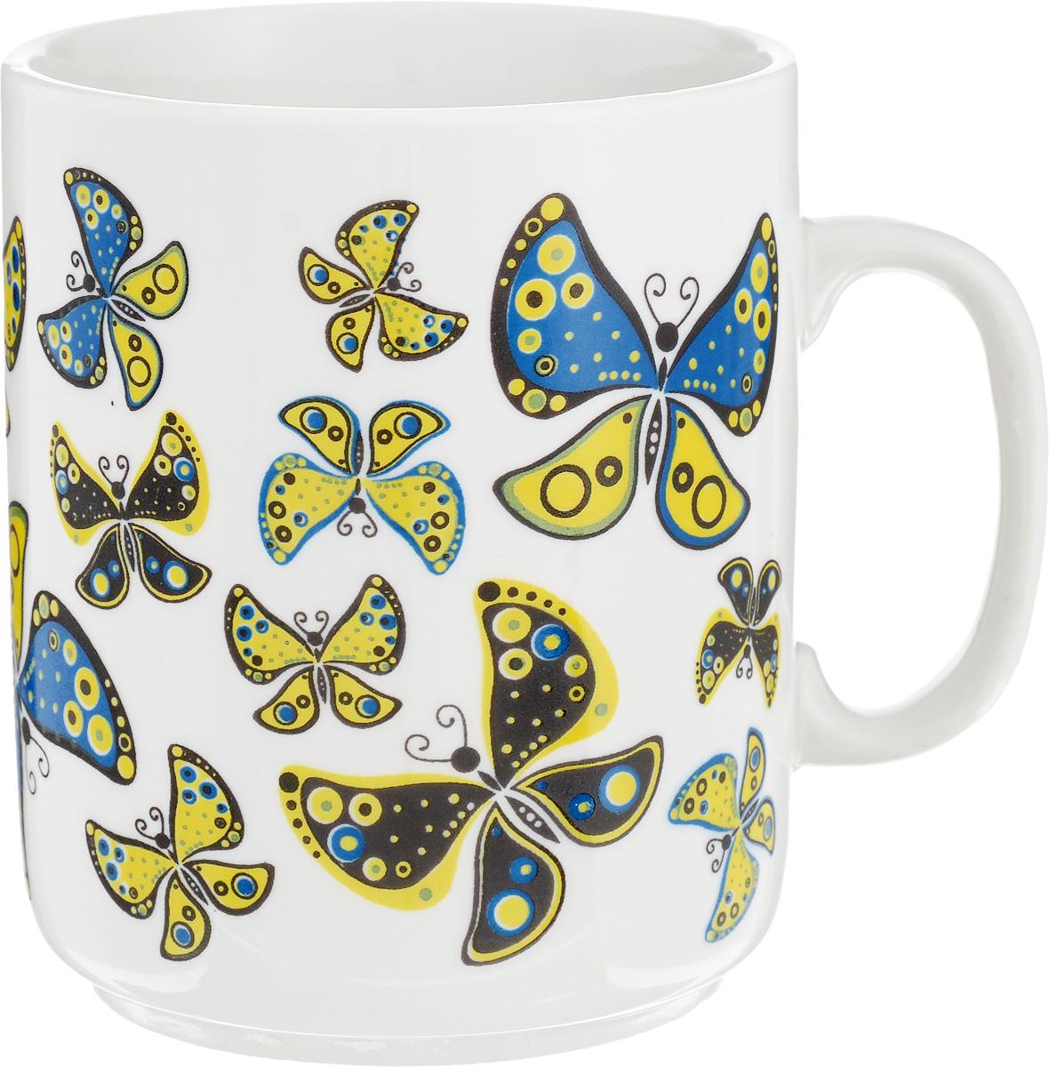 Кружка Фарфор Вербилок Солнечные бабочки, 300 мл9273950Красивая кружка Фарфор Вербилок Солнечные бабочки способна скрасить любое чаепитие. Изделие выполнено из высококачественного фарфора. Посуда из такого материала позволяет сохранить истинный вкус напитка, а также помогает ему дольше оставаться теплым.Диаметр по верхнему краю: 7,5 см.