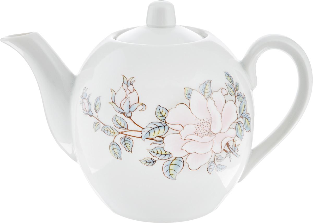 Чайник заварочный Фарфор Вербилок Контесса, 800 мл68/5/4Заварочный чайник Фарфор Вербилок Контесса изготовлен из высококачественного фарфора. Изделие прекрасно подходит для заваривания вкусного и ароматного чая, а также травяных настоев. Отверстия в основании носика препятствуют попаданию чаинок в чашку. Оригинальный дизайн сделает чайник настоящим украшением стола. Он удобен в использовании и понравится каждому.Диаметр чайника (по верхнему краю): 6 см. Высота чайника (без учета крышки): 12 см.