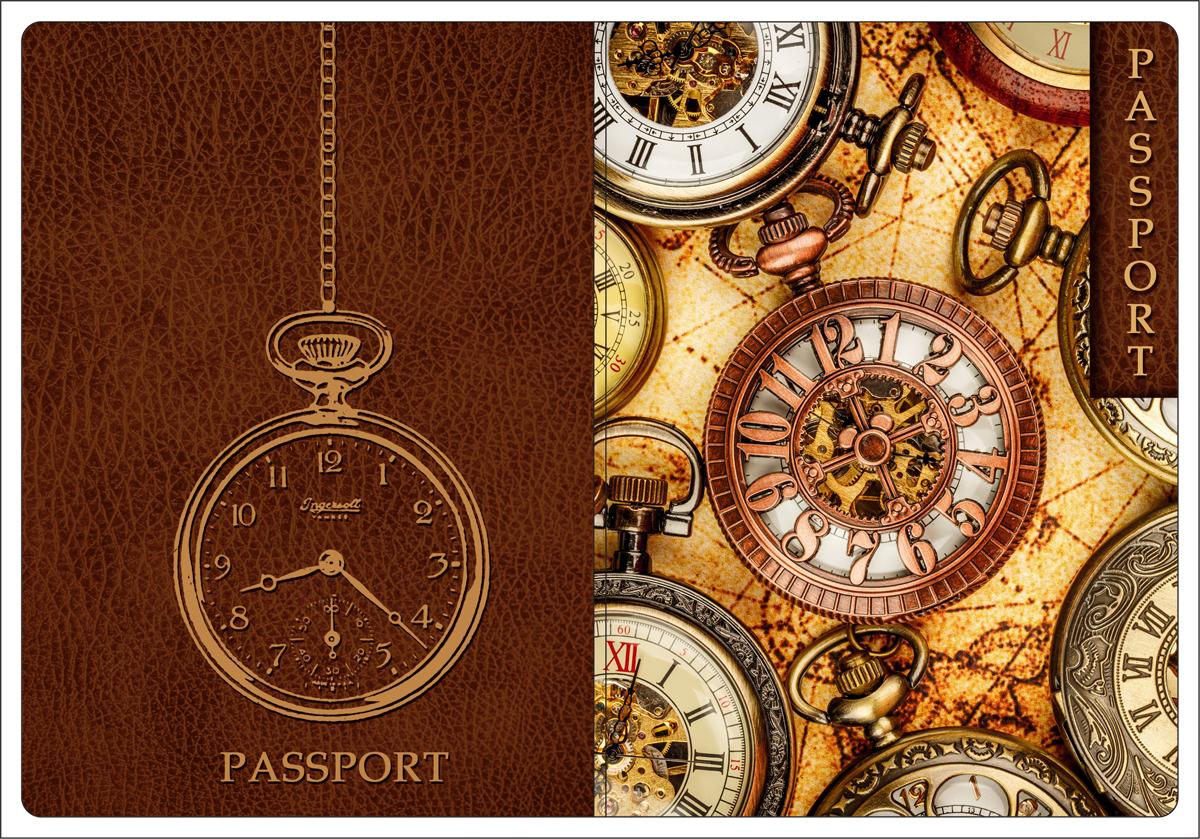 Обложка для паспорта Magic Home, цвет: коричневый, бежевый. 44511GL-236Обложка для паспорта от Magic Home классической модели выполнена из поливинилхлорида. Модель с широкими полями, оформлена оригинальным принтом.