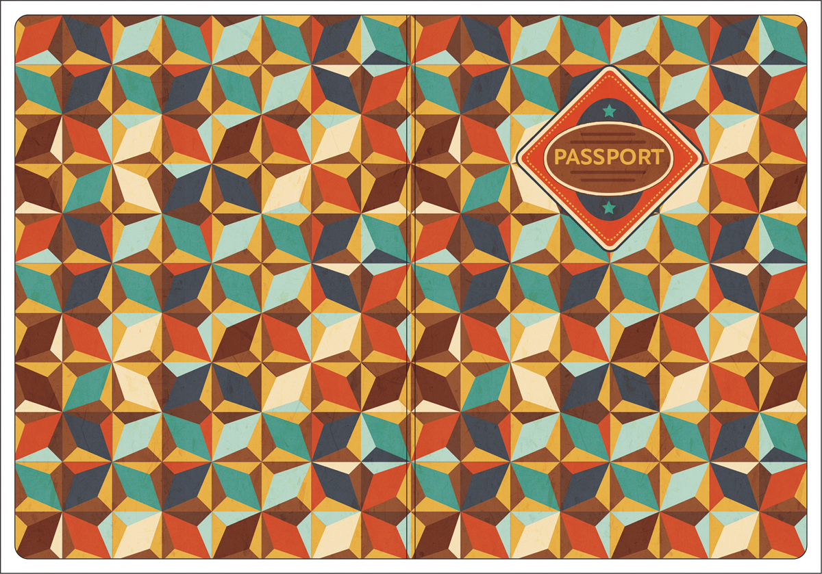 Обложка для паспорта Magic Home, цвет: коричневый, голубой. 44517GL-229Обложка для паспорта от Magic Home классической модели выполнена из поливинилхлорида. Модель с широкими полями, оформлена оригинальным принтом.
