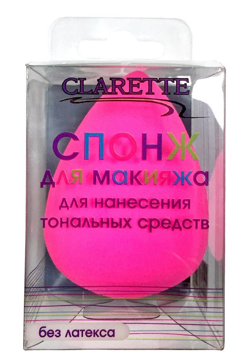 Clarette Спонж для макияжа,розовый1301210Спонж для макияжа Clarette - специальный каплеобразный спонж для нанесения тональных средств.С помощью спонжа можно наносить тени, кремы различной плотности, легкиетонирующие эмульсии, различные кремовые скульптурирующие средства,кремовые бронзеры, ВВ – кремы.С помощью спонжа вы можете смешивать разные компоненты - основу итональное средство для макияжа в нужной пропорции.Спонж подходит для наслаивания средства, создания разной плотностинанесения на разных участках кожи.Спонж Clarette не содержит латекса.