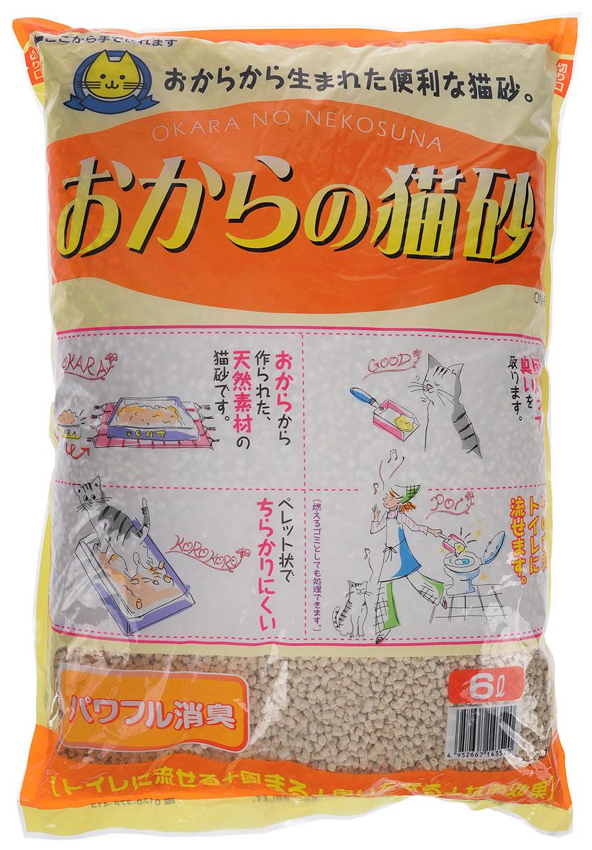 Наполнитель для кошачьего туалета Hitachi Okara, без аромата, 6 л0120710Наполнитель для кошачьего туалета Hitachi Okara изготовлен из натуральных компонентов, которые быстро адсорбируют влагу и превращают кошачьи выделения в комочки, растворимые в воде. Для утилизации достаточно смыть комочки использованного наполнителя в унитаз. Наполнитель предотвращает распространение неприятного запаха и купирует размножение бактерий. Благодаря натуральной основе, животное быстро привыкает к наполнителю.Состав: окара, карбонат кальция, крахмал, антибактериальный компонент, проклеивающиеся компоненты, антиоксидант, отдушки, красители.Товар сертифицирован.