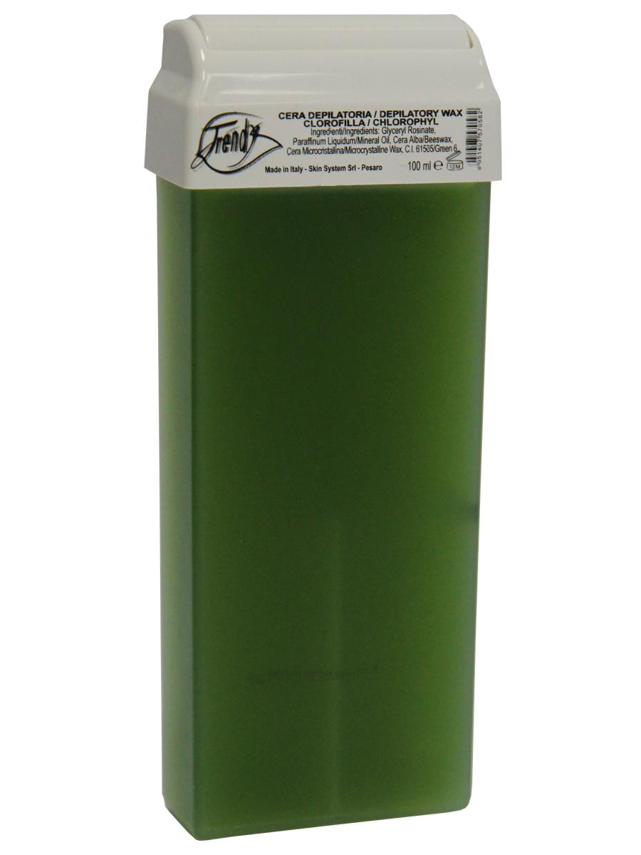 Trendy Воск для депиляции Зеленый в картридже, 100 мл30017Неплотный воск для всех типов кожи. Описание: Входящие в состав компоненты тонизируют и способствуют регенерации тканей. А хлорофилл оказывает антиоксидантное действие.