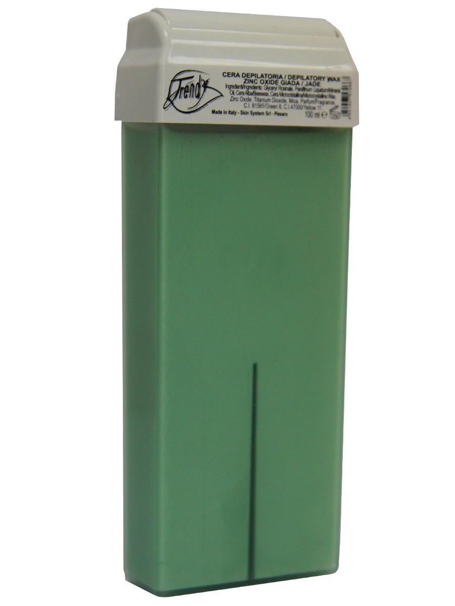 Trendy Воск для депиляции Нефрит (с оксидом цинка) в картридже, 100 мл30010Подходит для гиперчувствительной кожи, а также для первой депиляции. Описание:Перламутровый воск с кремообразной текстурой. Входящие в состав компоненты обладают бактерицидными, успокаивающими и увлажняющими свойствами. Благодаря сочетанию диоксида титана и оксида цинка процедура депиляции проходит легко и безболезненно.