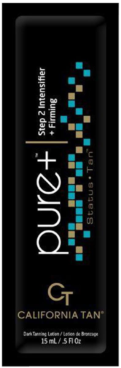 California Tan Крем для загара в солярии Status Tan Pure + Step 2, 15 мл87Лосьон для загара в солярии для загорелой кожи Шаг 2. Активные компоненты:CuO2: пептиды меди и кислород – эксклюзивный ингредиент California Tan . Оба элемента стимулируют и содействуют выработке фермента тирозиназа, который непосредственным образом влияет на производство меланина для темного загара Вашей кожи.TRF 2010: улучшенная версия известной технологии California Tan способствуют выработке коллагена, оздоровляет кожу и способствует проявлению ровного загара.FlashFirm Blend: комплекс из белой березы и кофеина тонизирует кожу и наполняет ее энергией.Масло Ши: насыщает кожу интенсивным увлажнением для глубокого и длительного загара.Экстракт Алое Вера: кондиционирует, смягчает кожу, снимает воспаления.Описание:Эта серия подтверждает, что коммуникабельность - это ключ к наилучшим результатам. Коллекция Status Tan сочетает в себе эффективную взаимосвязь между компонентами и 3-шаговой системой загара, обеспечивая непревзойденный бронзовый оттенок. Стань легендой с кремами Status Tan! Пусть все завидуют вашему загару!