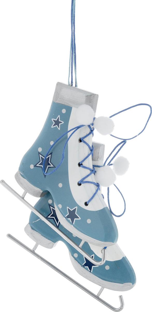 Украшение новогоднее подвесное House & Holder Коньки, 11 х 1 х 10 см, 2 шт11138104Новогоднее подвесное украшение House & Holder Коньки выполнено из дерева, текстиля и металла. С помощью специальной петельки украшение можно повесить в любом понравившемся вам месте. Но, конечно, удачнее всего оно будет смотреться на праздничной елке.Елочная игрушка - символ Нового года. Она несет в себе волшебство и красоту праздника. Создайте в своем доме атмосферу веселья и радости, украшая новогоднюю елку нарядными игрушками, которые будут из года в год накапливать теплоту воспоминаний.Размер: 11 х 1 х 10 см.Комплектация: 2 шт.
