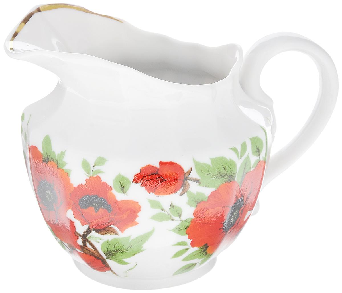Сливочник Фарфор Вербилок Маки, 350 мл54 009312Сливочник Фарфор Вербилок Маки выполнен из высококачественного фарфора и декорирован рисунком с изображением красных маков. Это изделие предназначено для того, чтобы красиво и аппетитно подавать на стол сливки или молоко к чаю, кофе, супу или фруктам.Размер сливочника (по верхнему краю): 9 х 7 см.Высота сливочника: 10 см.