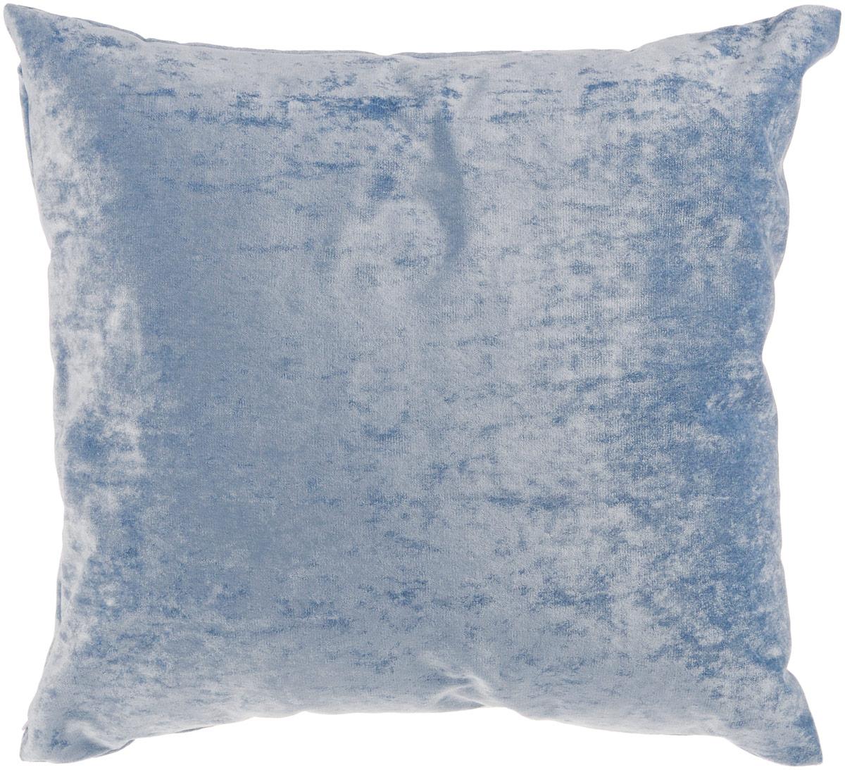 Подушка декоративная KauffOrt Бархат, цвет: голубой, 40 x 40 см531-105Декоративная подушка Бархат прекрасно дополнит интерьер спальни или гостиной. Бархатистый на ощупь чехол подушки выполнен из 49% вискозы, 42% хлопка и 9% полиэстера. Внутри находится мягкий наполнитель. Чехол легко снимается благодаря потайной молнии.Красивая подушка создаст атмосферу уюта и комфорта в спальне и станет прекрасным элементом декора.