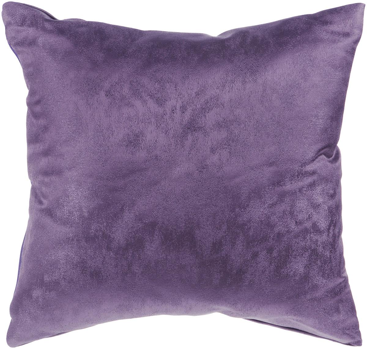 Подушка декоративная KauffOrt Магия, цвет: фиолетовый, 40 x 40 см8812Декоративная подушка Магия прекрасно дополнит интерьер спальни или гостиной. Приятный на ощупь чехол подушки выполнен из полиэстера. Внутри находится мягкий наполнитель. Чехол легко снимается благодаря потайной молнии в тон ткани.Красивая подушка создаст атмосферу уюта и комфорта в спальне и станет прекрасным элементом декора.