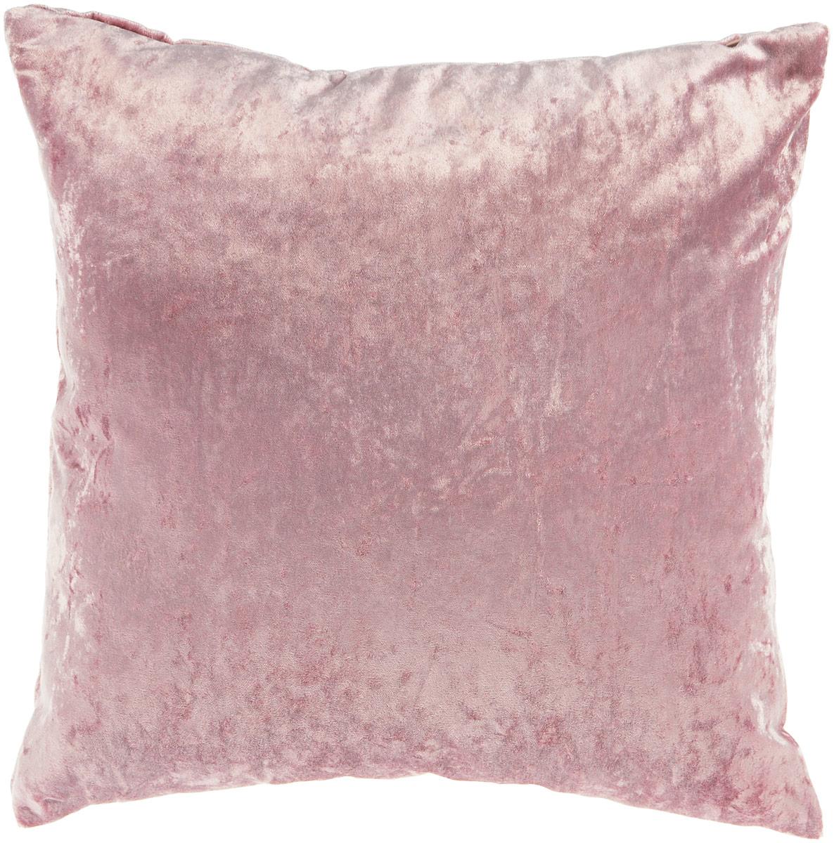 Подушка декоративная KauffOrt Бархат, цвет: розовый, 40 x 40 смSVC-300Декоративная подушка Бархат прекрасно дополнит интерьер спальни или гостиной. Бархатистый на ощупь чехол подушки выполнен из 49% вискозы, 42% хлопка и 9% полиэстера. Внутри находится мягкий наполнитель. Чехол легко снимается благодаря потайной молнии.Красивая подушка создаст атмосферу уюта и комфорта в спальне и станет прекрасным элементом декора.