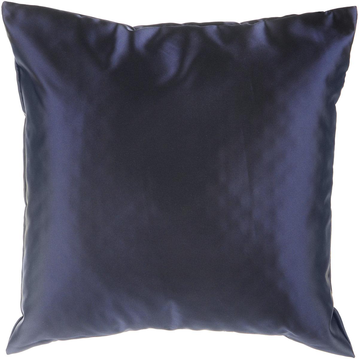 Подушка декоративная KauffOrt Крем, цвет: темно-синий, 40 x 40 см3121300645Декоративная подушка Крем прекрасно дополнит интерьер спальни или гостиной. Шелковый на ощупь чехол подушки выполнен из прочного полиэстера. Внутри находится мягкий наполнитель. Чехол легко снимается благодаря потайной молнии.Красивая подушка создаст атмосферу уюта и комфорта в спальне и станет прекрасным элементом декора.