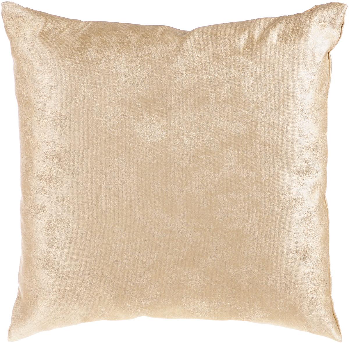 Подушка декоративная KauffOrt Магия, цвет: бежевый, 40 x 40 см6900Декоративная подушка Магия прекрасно дополнит интерьер спальни или гостиной. Очень нежный на ощупь чехол подушки выполнен из прочного полиэстера. Внутри находится мягкий наполнитель. Чехол легко снимается благодаря потайной молнии.Красивая подушка создаст атмосферу уюта и комфорта в спальне и станет прекрасным элементом декора.