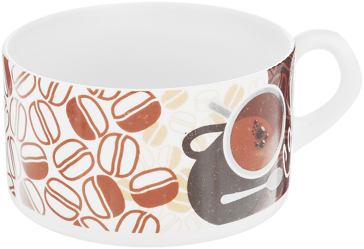 Кружка Фарфор Вербилок Европейская. Кофе вектор, 230 мл2172110Кружка Фарфор Вербилок Европейская. Кофе вектор выполнена из высококачественного фарфора. Диаметр кружки (по верхнему краю): 8,5 см.Высота кружки: 5,5 см.