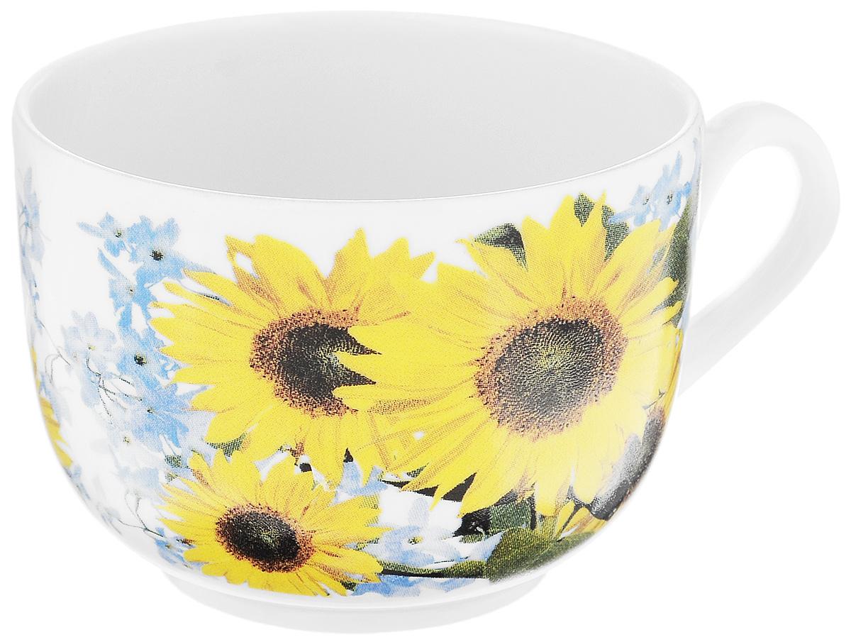 Чашка чайная Фарфор Вербилок Август. Подсолнух, 300 мл115510Чайная чашка Фарфор Вербилок Август. Подсолнух способна скрасить любое чаепитие. Изделие выполнено из высококачественного фарфора. Посуда из такого материала позволяет сохранить истинный вкус напитка, а также помогает ему дольше оставаться теплым.Диаметр по верхнему краю: 8,5 см.Высота чашки: 6,5 см.