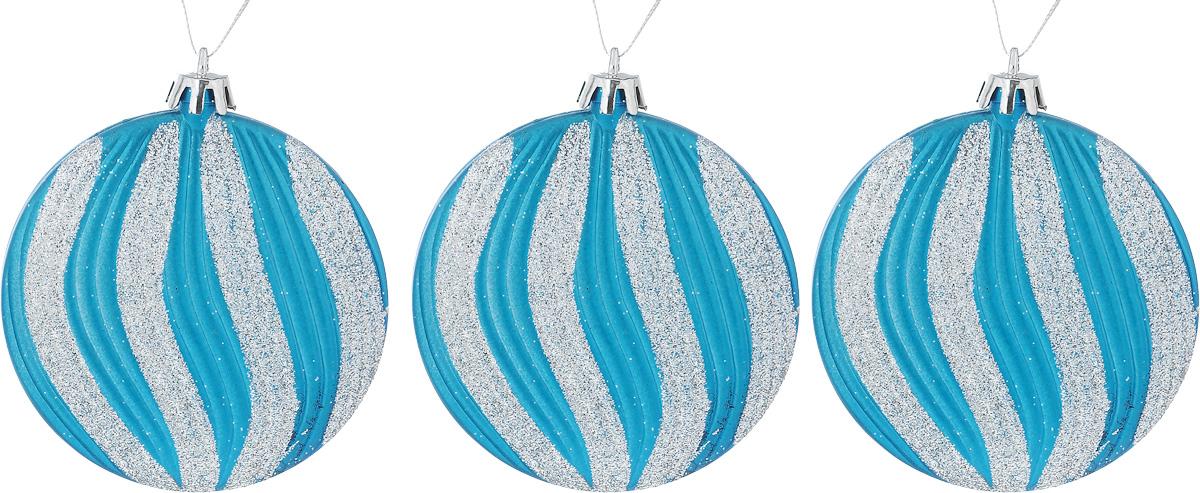 Набор новогодних подвесных украшений House & Holder Шары, цвет: голубой, серебристый, диаметр 7,5 см, 3 штNLED-454-9W-BKНабор подвесных украшений House & Holder Шары прекрасно подойдет для праздничного декора новогодней ели. Набор состоит из 3 пластиковых украшений. Для удобного размещения на елке для каждого украшения предусмотрено петелька. Елочная игрушка - символ Нового года. Она несет в себе волшебство и красоту праздника. Создайте в своем доме атмосферу веселья и радости, украшая новогоднюю елку нарядными игрушками, которые будут из года в год накапливать теплоту воспоминаний. Откройте для себя удивительный мир сказок и грез. Почувствуйте волшебные минуты ожидания праздника, создайте новогоднее настроение вашим дорогим и близким.Диаметр: 7,5 см.